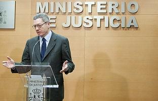 Alberto Ruiz-Gallardón. Ministro de Justicia.