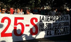 Una de las manifestaciones del 25S