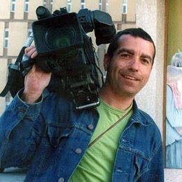 José Couso con su cámara.