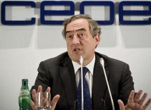 Juan Rosell, presidente de los empresarios.