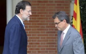 SPAIN-POLITICS-CATALONIA-RAJOY-MAS