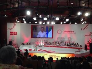 Intervención en vídeo del primer ministro Italiano durante la apertura del congreso.