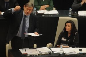 Lissavetzky  durante un Pleno del Ayuntamiento de Madrid.