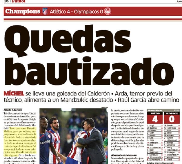Página del diario MARCA.