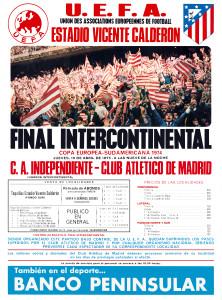 Cartel Copa Intercontinental 1975 (Javier Vega)