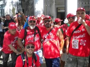 Trabajadores de Coca Cola en una protesta en Madrid.