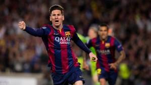 Messi celebra gol al Bayern