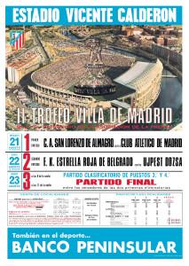 Cartel II Trofeo Villa de Madrid (Javier Vega)